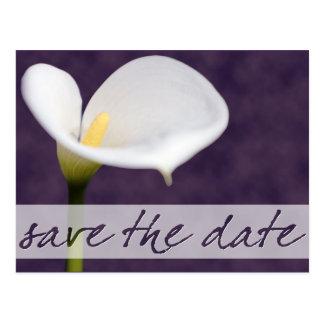Calla Lily Save the Date Postcard