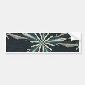 Calla Lily Star Kaleidoscope Bumper Sticker