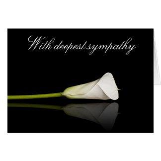 Calla lily sympathy card