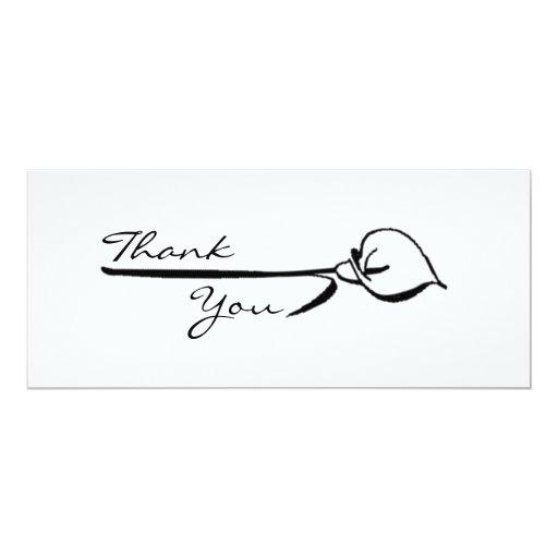 """Calla Lily Thank You 4"""" X 9.25"""" Invitation Card"""