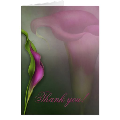 Calla Lily Thank you! Greeting Card