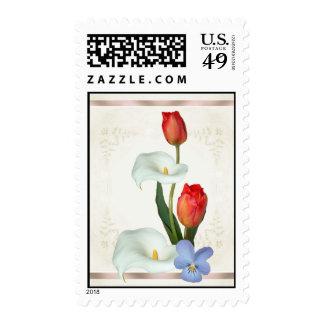 Calla Lily Tulip Viola Stamp