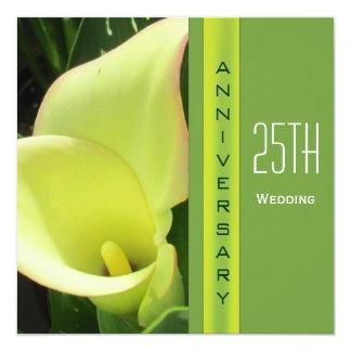 Calla Lily Wedding Anniversary Invitation
