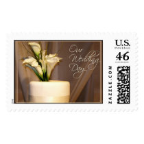Calla Lily Wedding Cake Postage Stamp