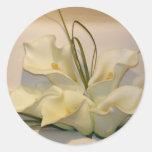 Calla lily wedding envelope seals round sticker