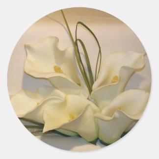 Calla lily wedding envelope seals classic round sticker