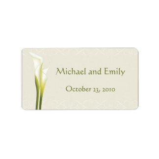 Calla Lily Wedding Favor Labels