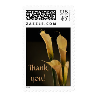Calla Lily Wedding Flower - Thank you Postage