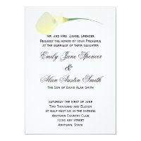Calla Lily Wedding Invitation