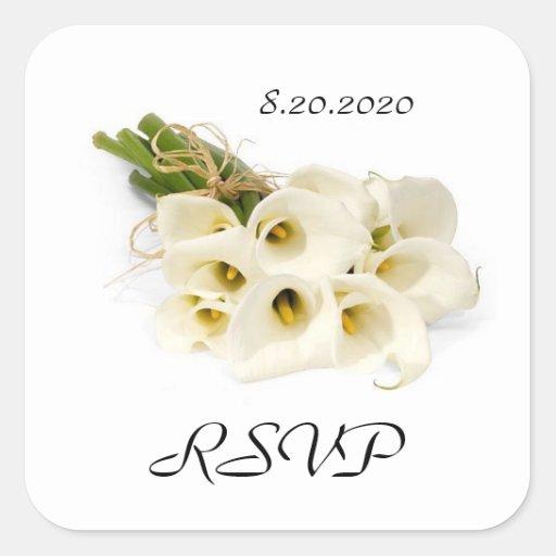 Calla Lily Wedding Invitation Envelope Seals Sticker