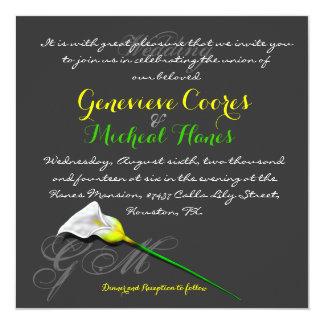 Calla Lily Wedding Invitation (Vers.3)
