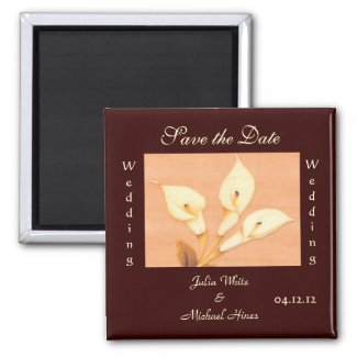 Calla Lily Wedding Magnet