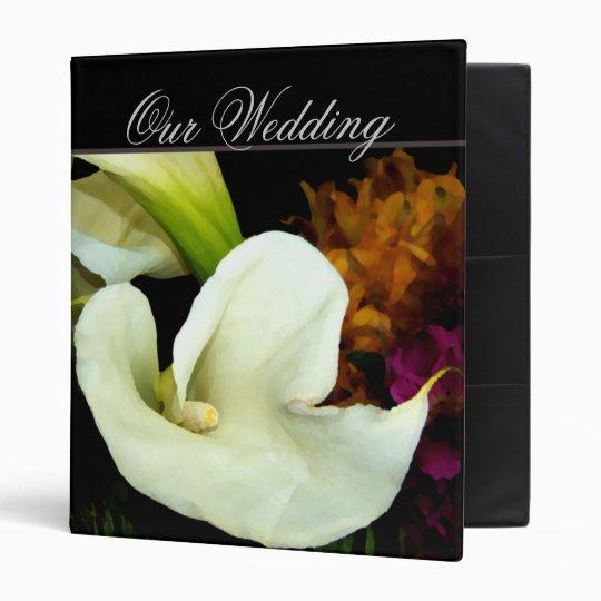 Calla lily Wedding Planner 3 Ring Binder