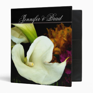 Calla lily Wedding Planner Binder