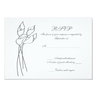 Calla Lily wedding rsvp 3.5x5 Paper Invitation Card