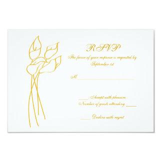 Calla Lily wedding rsvp Custom Invitation