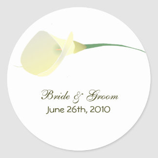 Calla Lily Wedding Stickers