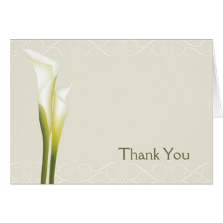 Calla Lily Wedding Thank You cards