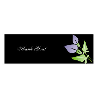 Calla Lily  Wedding Thank You Cards Double-Sided Mini Business Cards (Pack Of 20)