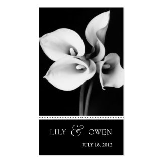 calla lily wedding website business card