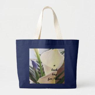Calla Lily with Iris Book Bag