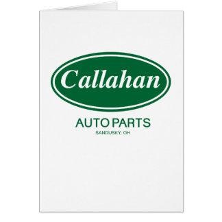 Callahan Auto Parts Card