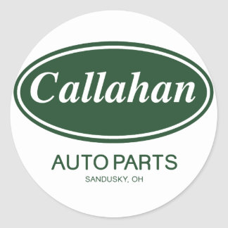 Callahan Auto Parts Classic Round Sticker