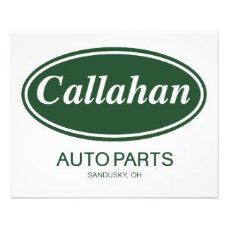 Callahan Auto Parts Flyer