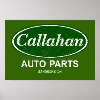 Callahan Auto Parts Poster- $19.95