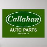 Callahan Auto Parts Poster- $19.95 Poster