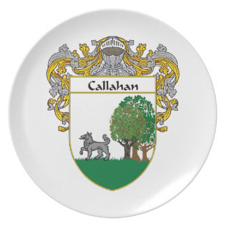 Callahan Coat of Arms/Family Crest Dinner Plate