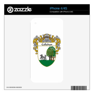 Callahan Coat of Arms/Family Crest iPhone 4 Decal