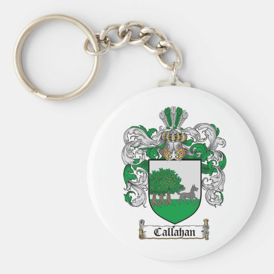 CALLAHAN FAMILY CREST -  CALLAHAN COAT OF ARMS KEYCHAIN
