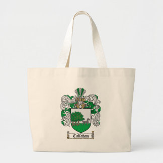 CALLAHAN FAMILY CREST -  CALLAHAN COAT OF ARMS LARGE TOTE BAG