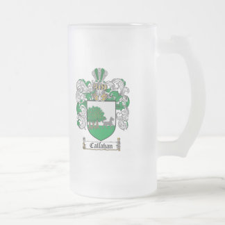 CALLAHAN FAMILY CREST -  CALLAHAN COAT OF ARMS 16 OZ FROSTED GLASS BEER MUG