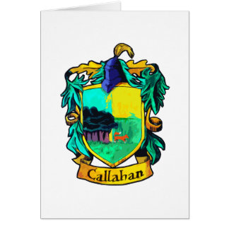 Callahan Family Crest (cutout) Card
