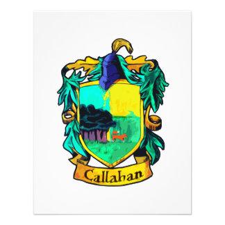 Callahan Family Crest (cutout) Custom Invitations