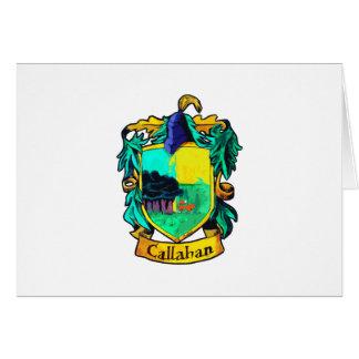 Callahan Family Crest (cutout) Greeting Cards