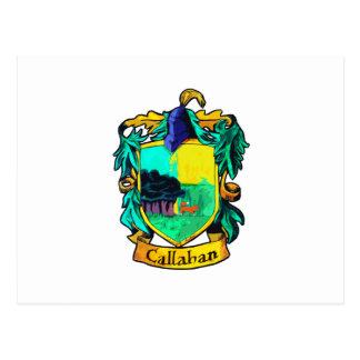 Callahan Family Crest (cutout) Post Card