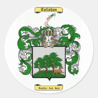 callahan classic round sticker