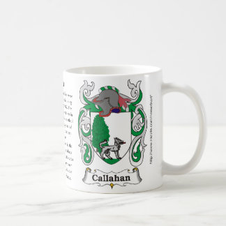 Callahan, the origin and meaning on a mug