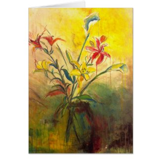 Callalilies with Lilies card