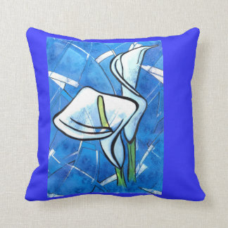 Callas in Blue by CR Sinclair Throw Pillow