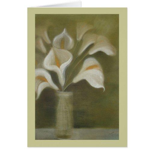 Calla's In Vase Card