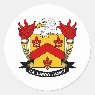 Callaway Family Crest Classic Round Sticker