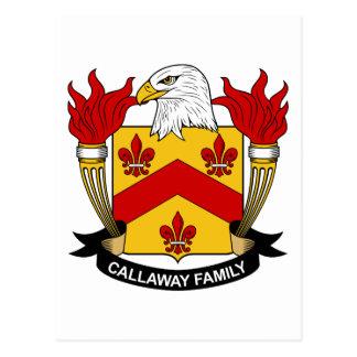 Callaway Family Crest Postcard