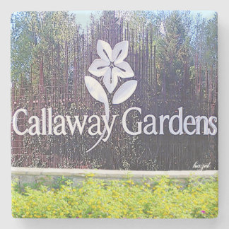 Callaway Gardens Atlanta Marble Stone Coaster. Stone Coaster