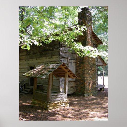 Callaway gardens log cabin poster zazzle for Callaway gardens cabin rentals