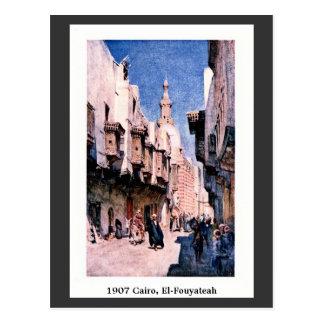 Calle 1900 de EL-Fouyateah de El Cairo Egipto del Tarjeta Postal