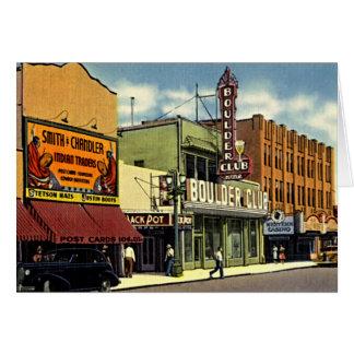 Calle 1930 de Las Vegas, Nevada Fremont Tarjeta De Felicitación